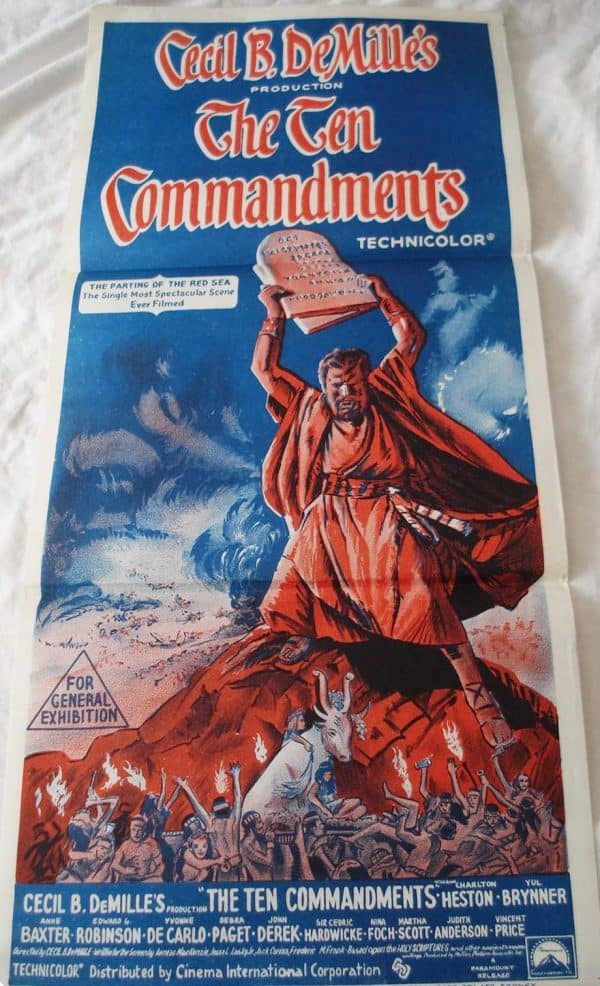the ten commandments movie posters